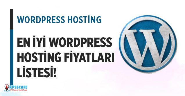 Wordpress Hosting Fiyatları