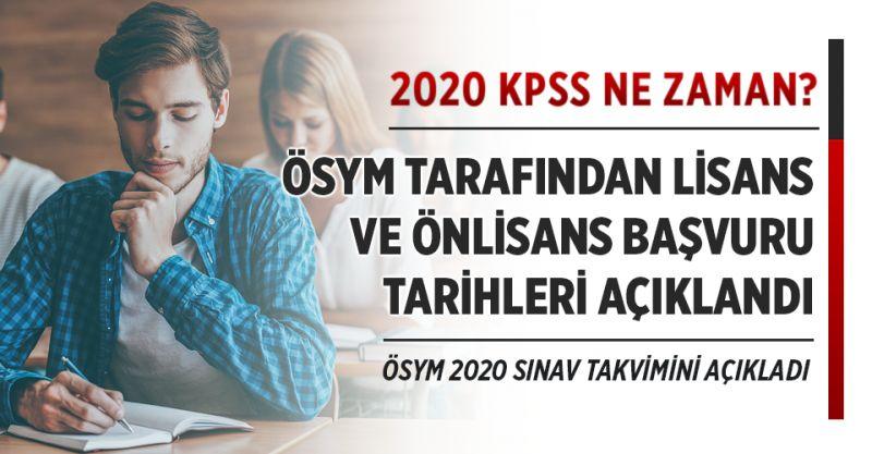 KPSS 2020 ne zaman yapılacak? KPSS lisans, ön lisans ve lise başvuru tarihleri açıklandı!