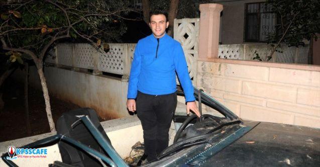Antalya'daki ikiye ayrılan araçtan yürüyerek çıktı!