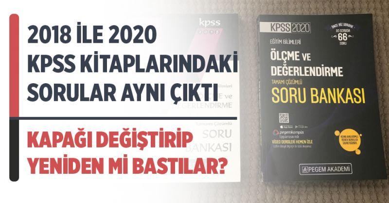 2018 ile 2020 KPSS Kitaplarındaki Soruların Aynı Olduğu İddiası