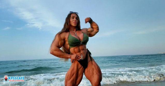 Rus vücut geliştirici Kuznetsova, eşinin daha az kaslı olmasına aldırmıyor!