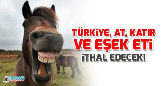 Türkiye, at, katır ve eşek eti ithal edecek!