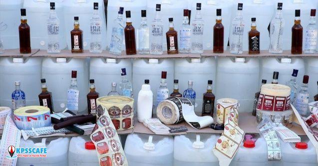 Sahte içki operasyonu: 6 tır dolusu malzeme ele geçirildi!
