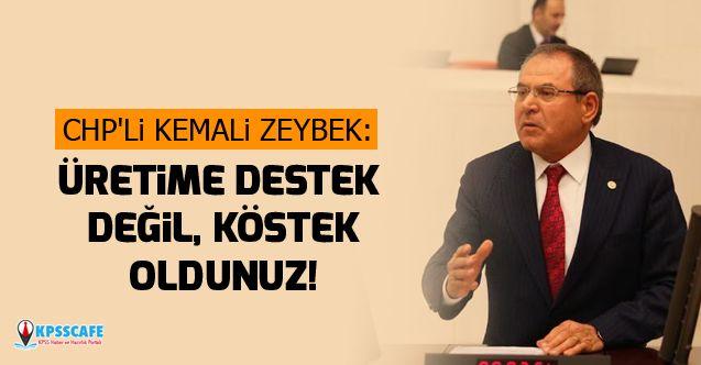 CHP'li Kemali Zeybek:Üretime Destek Değil, Köstek Oldunuz!