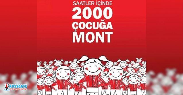 Saatler İçinde 2000 Çocuğa Mont