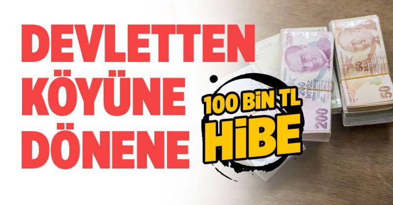 Devletten köyüne dönene 100 bin TL Hibe!