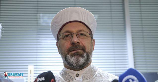 Diyanet İşleri Başkanı Erbaş'tan 'camide tabure ve sandalye' açıklaması!