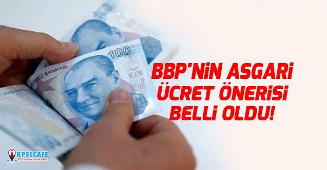 BBP'nin Asgari Ücret Önerisi Belli Oldu!