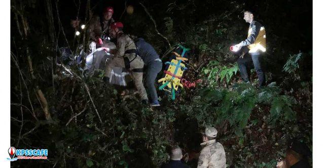 Rize'de kestikleri ağaç üzerlerine devrilen çift yaşamını yitirdi!