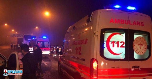 Ankara'da yoğun sis nedeniyle otobüs kazaları: 1'i ağır 11 yaralı