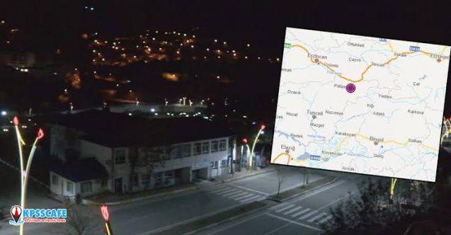 Tunceli'de 4.2 büyüklüğünde deprem!