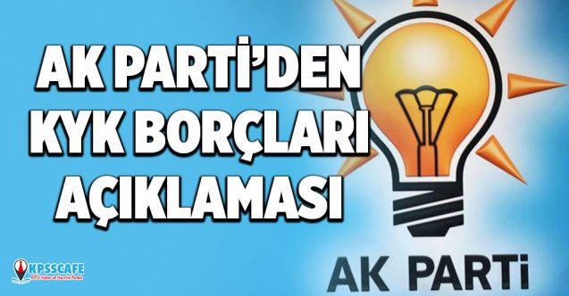 Ak Parti'den KYK Borçları Açıklaması!