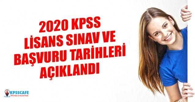 ÖSYM 2020 Lisans KPSS Sınavı ve Başvuru Tarihini Açıkladı!