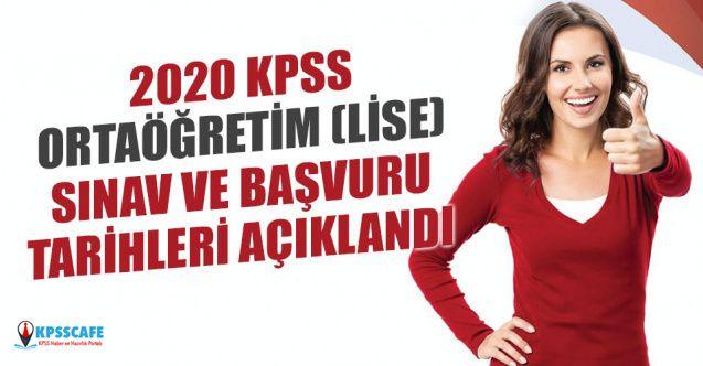 ÖSYM 2020 Lise (Ortaöğretim) KPSS Sınavı ve Başvuru Tarihini Açıkladı!