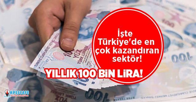 Yıllık 100 Bin Lira! İşte Türkiye'de en çok kazandıran sektör!