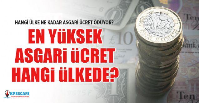 En Yüksek Asgari Ücret Hangi Ülkede?