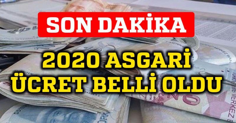 Son dakika! Asgari ücret ne kadar oldu 2020 | Yeni asgari ücret belli oldu!