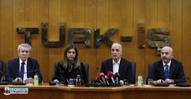 Türk-İş : Asgari ücreti kabul etmiyoruz!