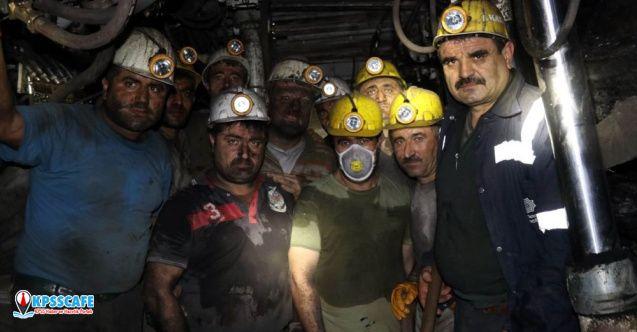 Yeni yıla maden ocağında çalışarak girdiler!