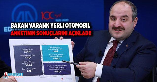 Bakan Varank yerli otomobil anketinin sonuçlarını açıkladı!