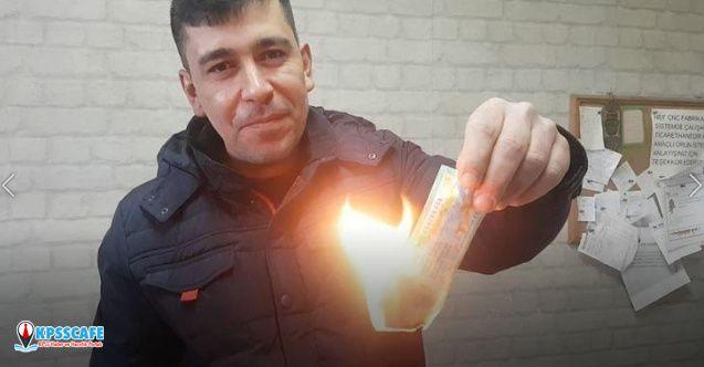 20 bin lira isabet eden biletini 'haram' diye yaktı