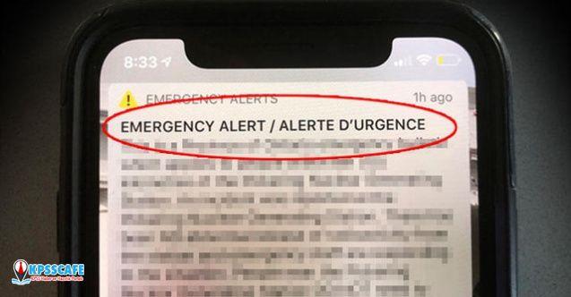 Telefonlara Gönderilen Uyarı Mesajı Ortalığı Karıştırdı!