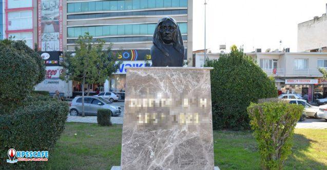 Adana'da Zübeyde Hanım'ın büstüne saldırı