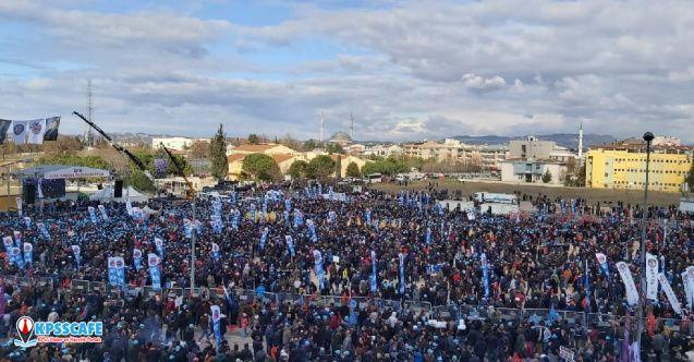 Bursa'da dev miting, 130 bin işçi katılıyor..