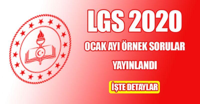 LGS 2020 Ocak ayı örnek sorular yayınlandı