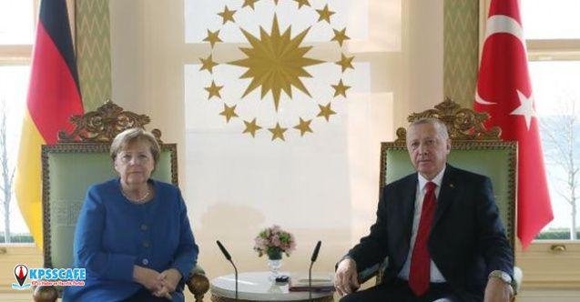 Erdoğan, Merkel ile görüştü İşte detaylar!
