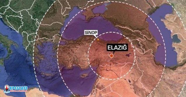 Son dakika: Elazığ depremini 120 milyon kişi hissetti? Sismoloji Merkezi harita yayınladı.