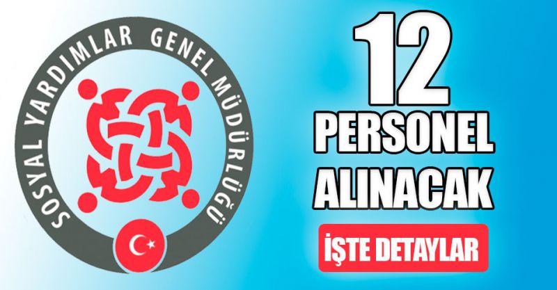 Ankara SYDV En az ilköğretim mezunu12 personel alımı yapacak! İşte detaylar...