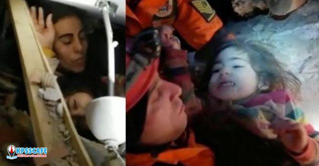 Enkazdan, 2,5 yaşındaki çocuk 24 saat sonra kurtarıldı!