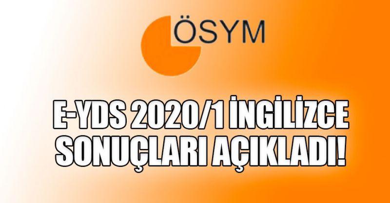 2020 e-YDS 2020/1 İngilizce sonuçları açıklandı! İşte sorgulama ekranı