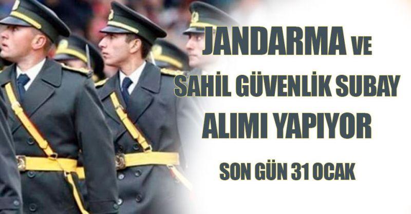 Jandarma ve Sahil Güvenlik subay alımı yapıyor! Son gün 31 Ocak
