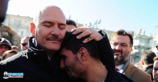 Soylu; depremzedeleri enkazdan çıkaran SuriyeIi Mahmud'a teşekkür etti: 400 yıl aynı sancak altında yaşadık, biz kardeşiz