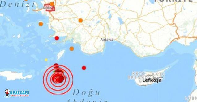 Akdeniz beşik gibi sallandı! 20 dakikada 7 deprem oldu!
