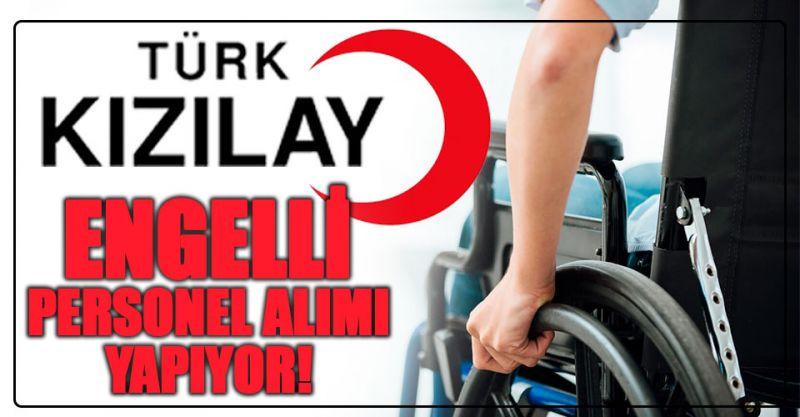 Türk kızılayı Engelli Personel Alımı Yapıyor!
