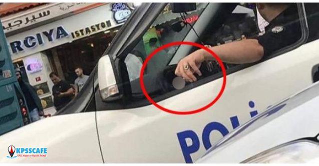 Sigara İçip Telefonla Konuşan Polis Memuruna Soruşturma Başlatıldı!