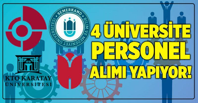 4 Üniversite 27 Personel Alımı Yapıyor! İşte Alım Yapan Üniversiteler...