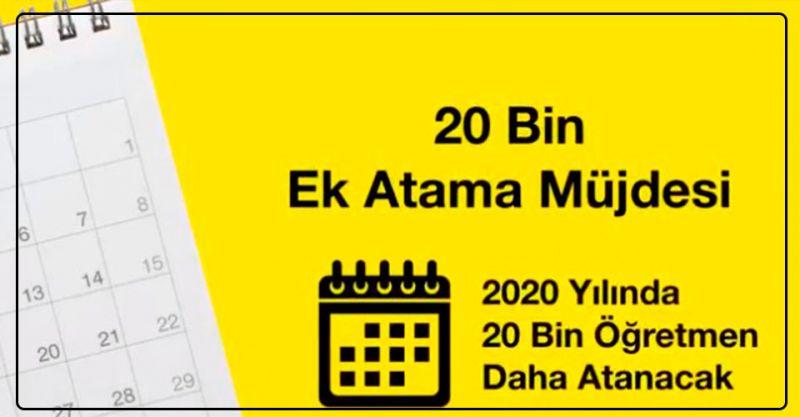 Bakan Ziya Selçuk'tan 20 Bin Öğretmen Ek Atama müjdesi!