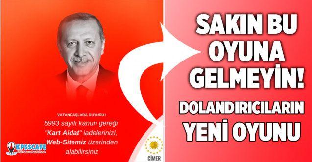 Bu oyuna gelmeyin: Cumhurbaşkanı Erdoğan'ın fotoğrafını kullanarak dolandırıyorlar!