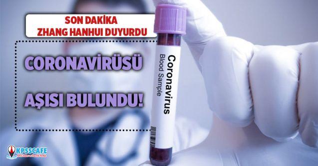 Zhang Hanhui duyurdu: Koronavirüsü aşısı bulundu!