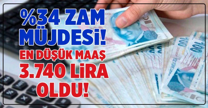 Belediye Personeline %34 zam müjdesi! En düşük maaş 3 bin 740 Lira oldu!