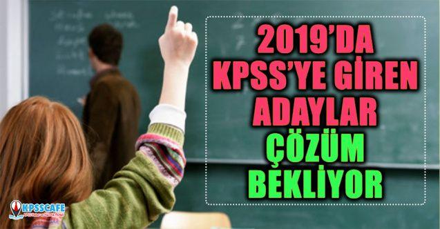2019'da KPSS'ye Giren Adaylar Çözüm Bekliyor
