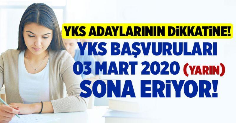 YKS Adaylarının Dikkatine! YKS Başvuruları Yarın 03 Mart Sona Eriyor!