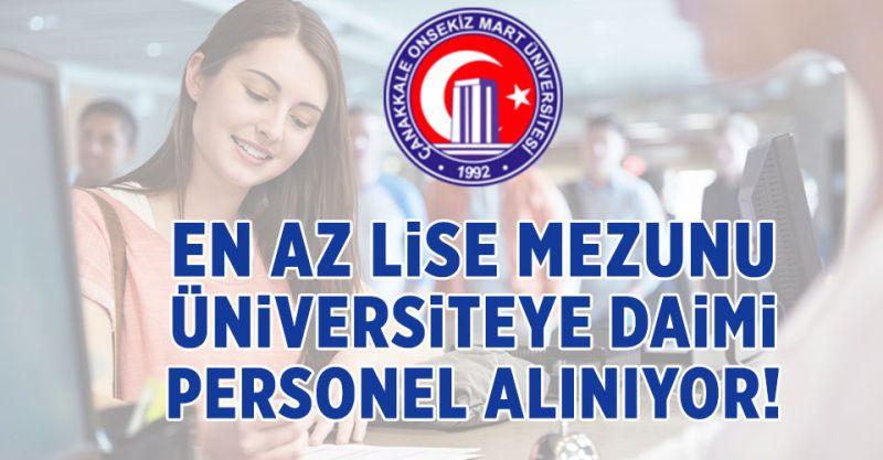 En Az Lise Mezunu Üniversiteye Daimi Personel Alınıyor!