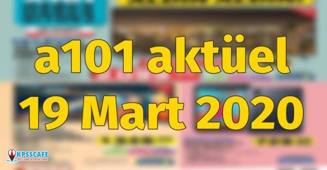 A101 19 Mart 2020 Perşembe Aktüel ürünler listesi açıklandı