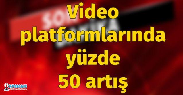 Video Platformlarında Yüzde 50'ye Yakın Artış