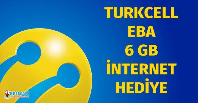 Turkcell EBA 6 GB Hediye İnternet Verecek!